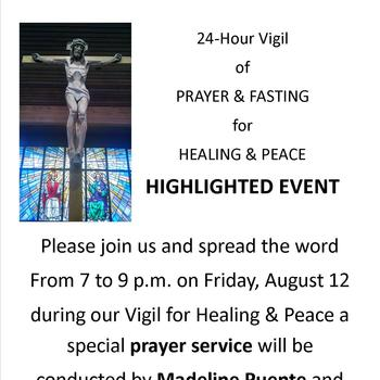 Prayer Service during 24 Hour Vigil for Healing & Peace