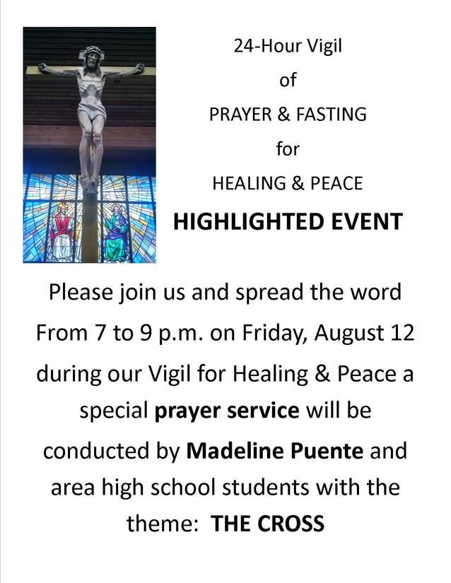 24 Hour Vigil of Prayer and Fasting for Healing and Peace