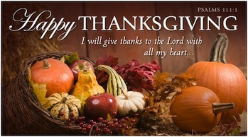 Parish Office Closed for Thanksgiving