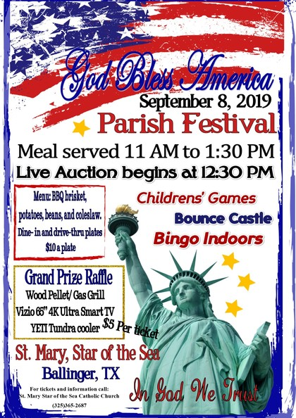 St. Mary Star of the Sea Parish Festival on Sept. 8, 2019