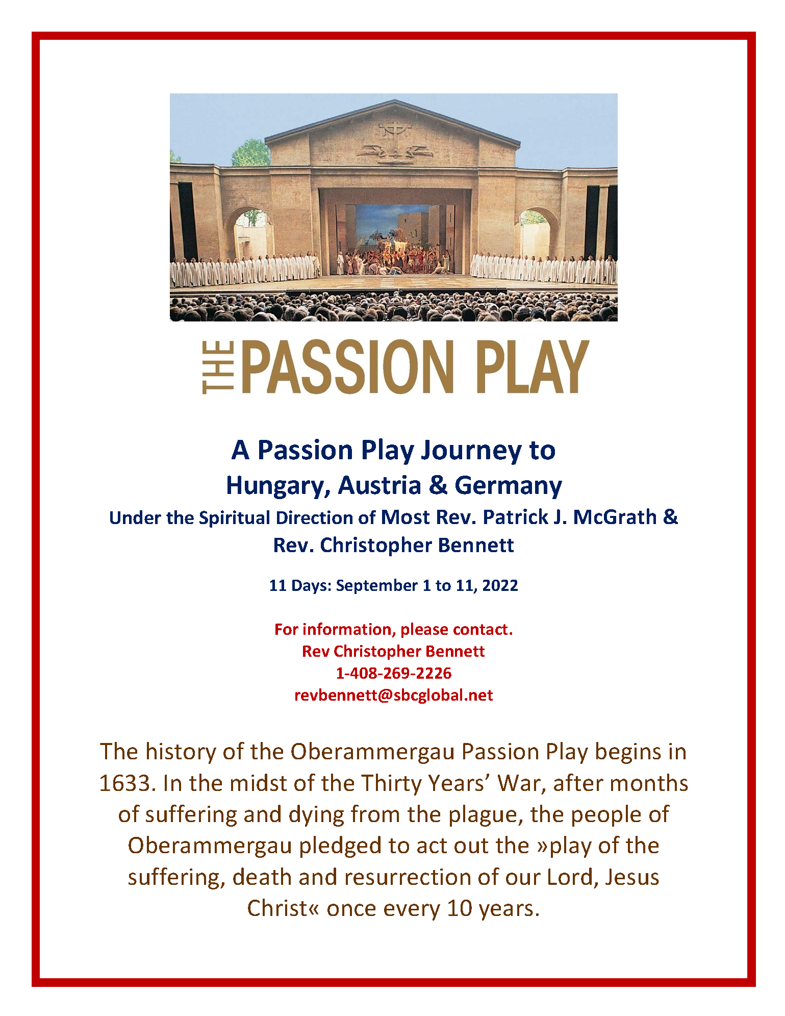 A Passion Play Journey to Hungary, Austria & Germany