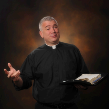 Fr. Larry Richards at McVinney Auditorium