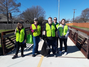 Saint Ann Youth Keep Burleson Beautiful