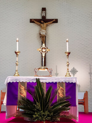 First Friday Adoration 8 AM to 5 PM.