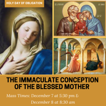 Holy Day: Immaculate Conception of Mary