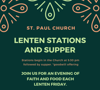 Fridays: Lenten Stations and Supper