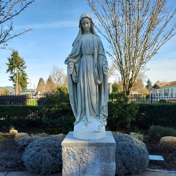 Blessing the New Marian Statue