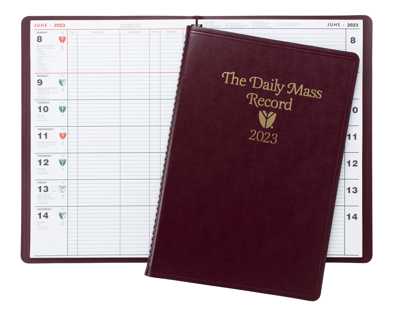 Annual Parish <br />Publications<br />Daily Mass Record