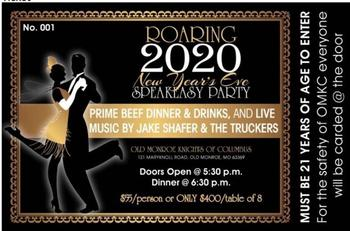 Roaring 2020 New Years Eve Speakeasy Party!