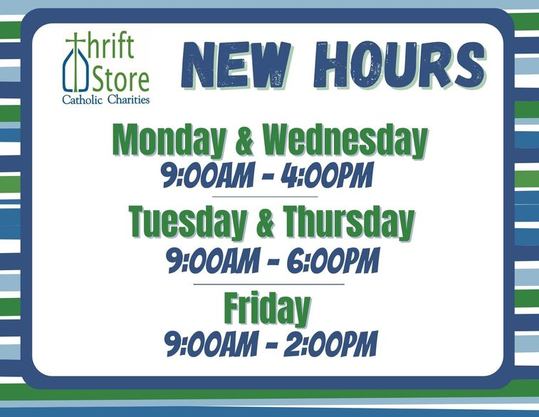 Thrift Store Hours