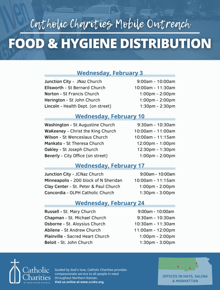 February Mobile Outreach Schedule