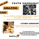 NOW HIRING! Youth Minister & Liturgy Assistant