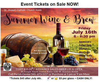 SUMMER WINE & BREW (Click Here For Auction Items!)