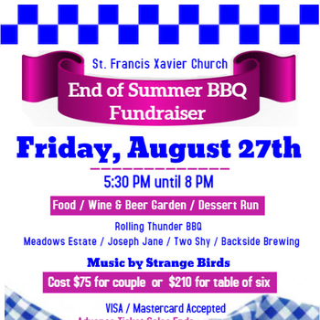 End of Summer BBQ Fundraiser ~ Click here for auction items!