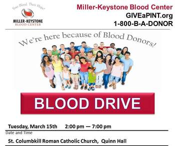 St. Columbkill Blood Drive