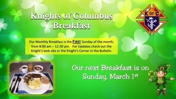 Knights of Columbus March Breakfast