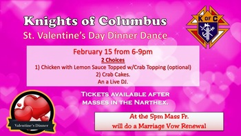 K of C - St. Valentine's Day Dinner Dance