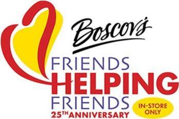 UPDATE:  Boscov's FRIENDS Helping Friends!  20 October - 7am to 11pm