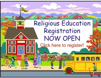 Religious Education Registration weekend
