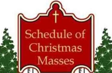 Christmas Season Mass Schedule 2020