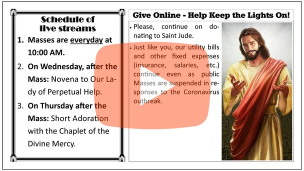 Daily Mass Live available everyday at 10AM!