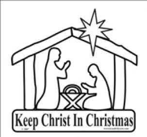 KC Keep Christ in Christmas Decals