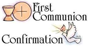 First Communion Confirmation with Holy Spirit as a dove
