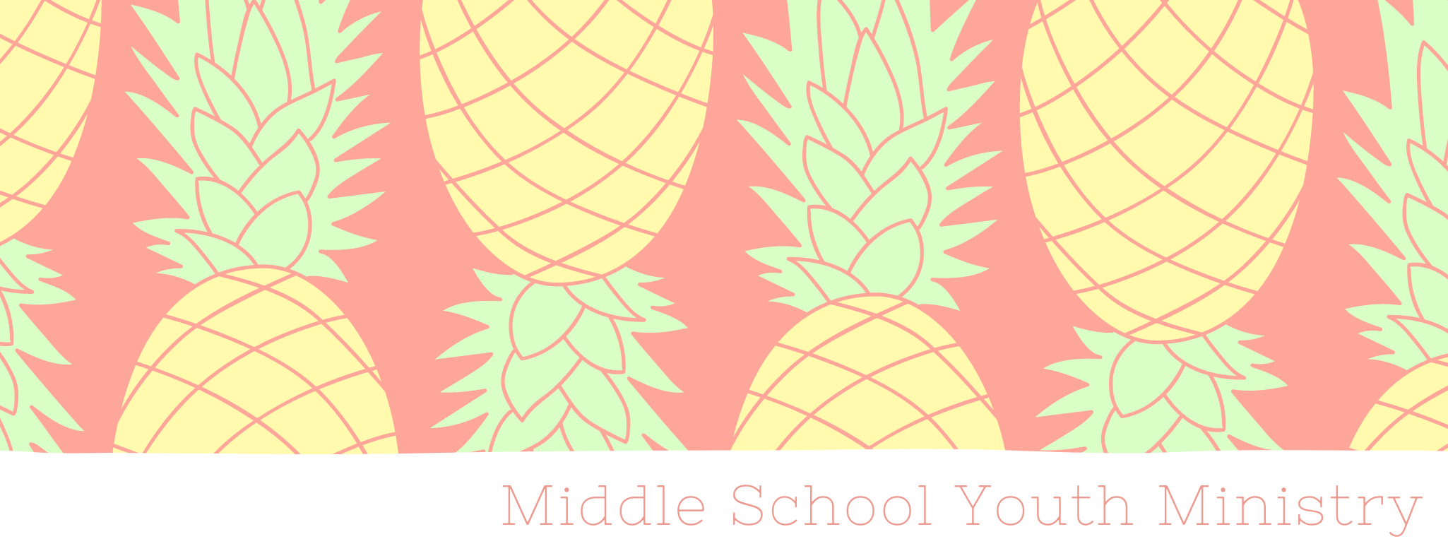 Middle school youth ministry spring button