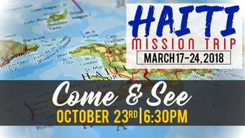 Haiti Mission Trip Come and See Night