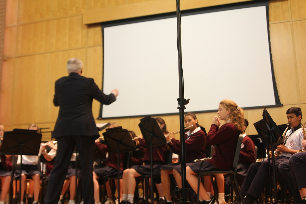 ST  JOHN PAUL II CATHOLIC SCHOOL MIDDLE SCHOOL BAND EARNS