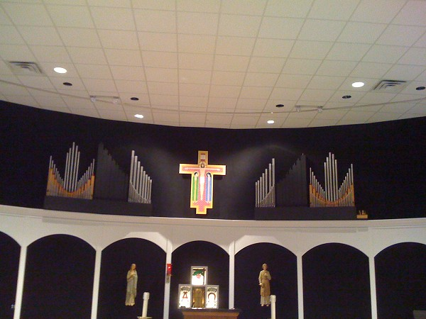 Pipes as installed in the Church.