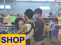thrift store shop for men, women, children clothing, household needs, and furniture