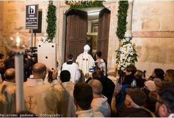The Archbishop Opens the Holy Door in the City of Corato