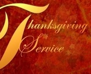 Giving Thanks For The Thanksgiving Service