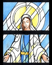 Check out the stained glass designs for our church!