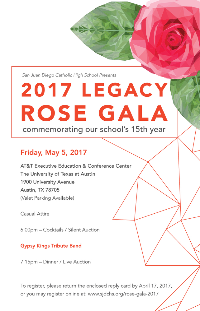 Rose Gala - Save the Date - May 5, 2017