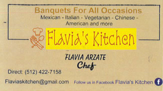 Flavia's September Lunch Menu