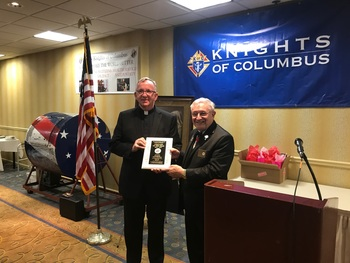 Father Brian Manning selected by the Knights of Columbus as Chaplain of the Year
