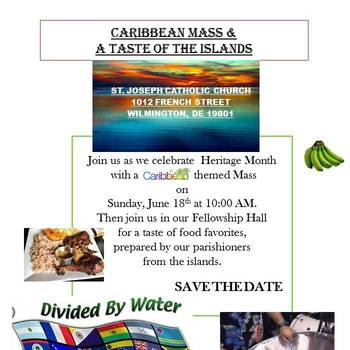 Caribbean Mass and Tasting - Sunday, June 18, 10am