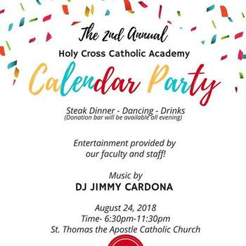 Holy Cross Catholic Academy Calendar Party