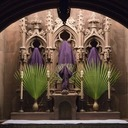 E-card: Why do we empty holy water fonts and cover statues during Lent?