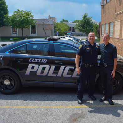 Fr. Scott and Lieutenant Cutright of the Euclid Police Department