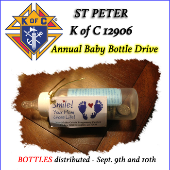 Baby Bottle Distribute Weekend of September 9th and 10th