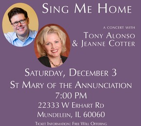 Sing Me Home: A Concert with Tony Alonso & Jeanne Cotter