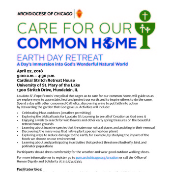 Care for our Common Home: EARTH DAY RETREAT