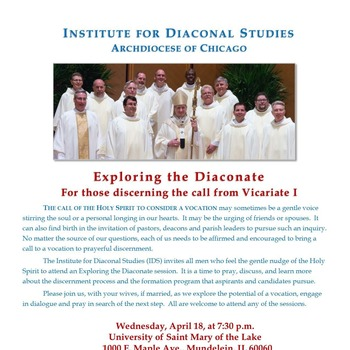 Exploring the Diaconate: for those in Vicariate 1