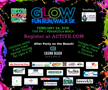 Pensacola Beach Glow Run