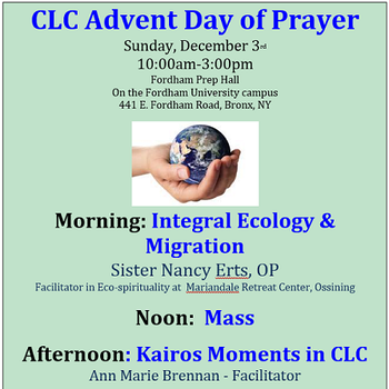 Metro NY CLC Hosts Annual Advent Day of Prayer at Fordham Prep