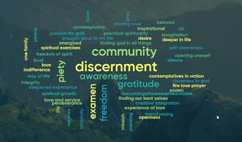 St. Ignatius Feast Day Commemoration -  Sharing Our Gifts in a Word Cloud