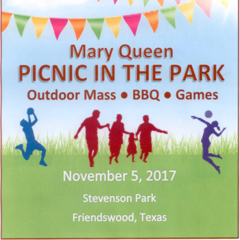 SAVE THE DATE - MARY QUEEN PICNIC IN THE PARK